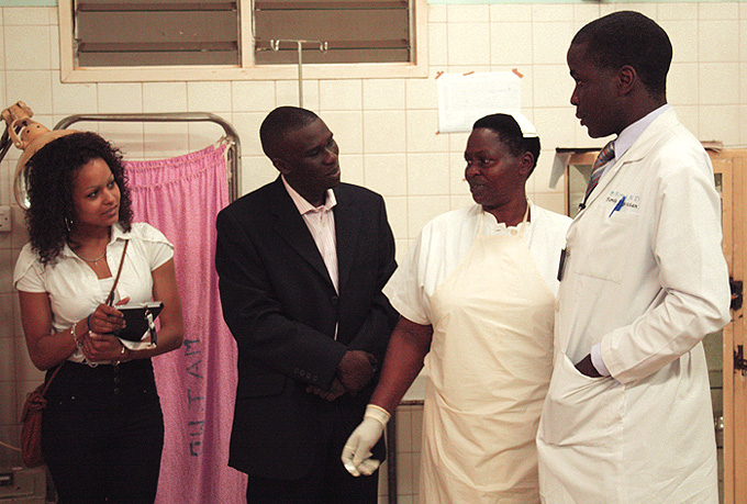 DenisMugagga meets Dr. Ivan at the Kawolo Hospital